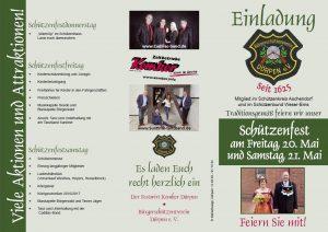 Flyer - Einladung Schützenfest Dörpen 2016 - Seite 1