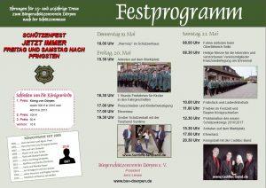 Flyer - Einladung Schützenfest Dörpen 2016 - Seite 2