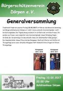 Flyer - Generalversammlung 2017