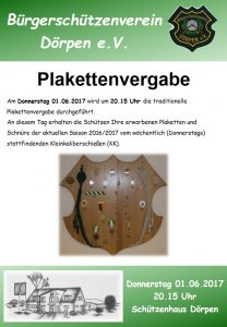 Plakettenvergabe 2017 - Flyer