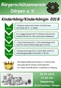 Flyer - Kinderschützenkönig/-in 2018