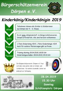 Flyer - Kinderkönigsschießen 2019